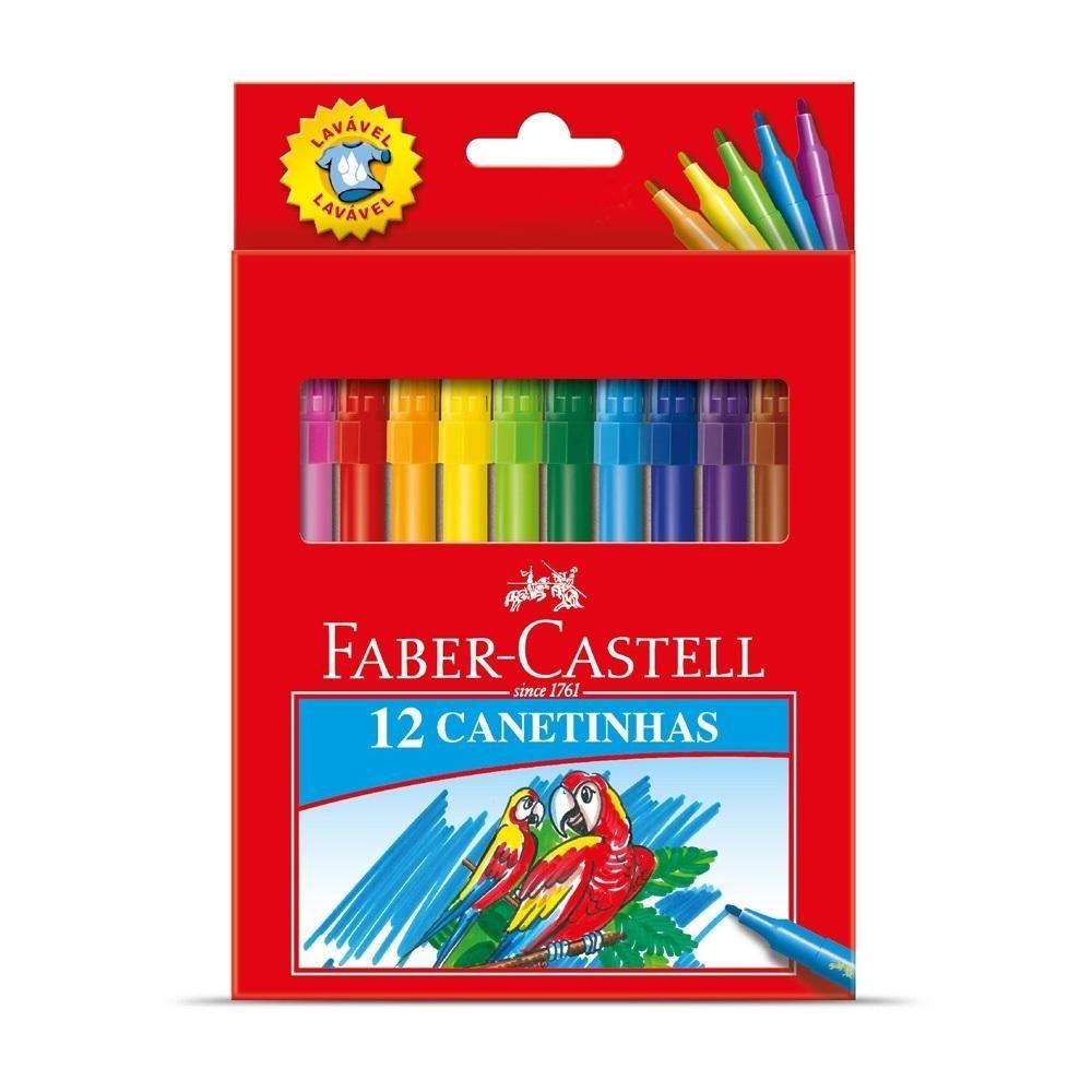 Caneta Hidrográfica c/12 unidades Faber Castell