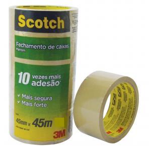 Fita Adesiva Transparente 45x45 Scoth 3M