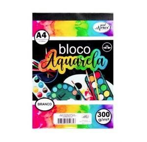 Bloco Aquarela A4 com 12 Folhas de 300g livre de ácido Merci Cadernos