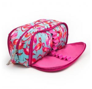 Estojo Escolar Triplo Flamingos CG9251 Clio