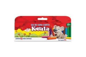Giz De Cera Curto 15 Cores Koala