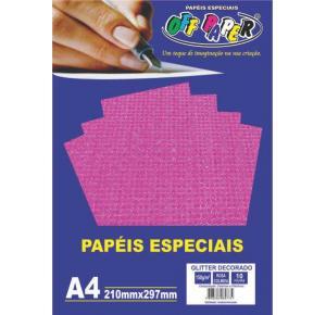 Papel Especial Glitter Decorado 150g A4 Off Paper