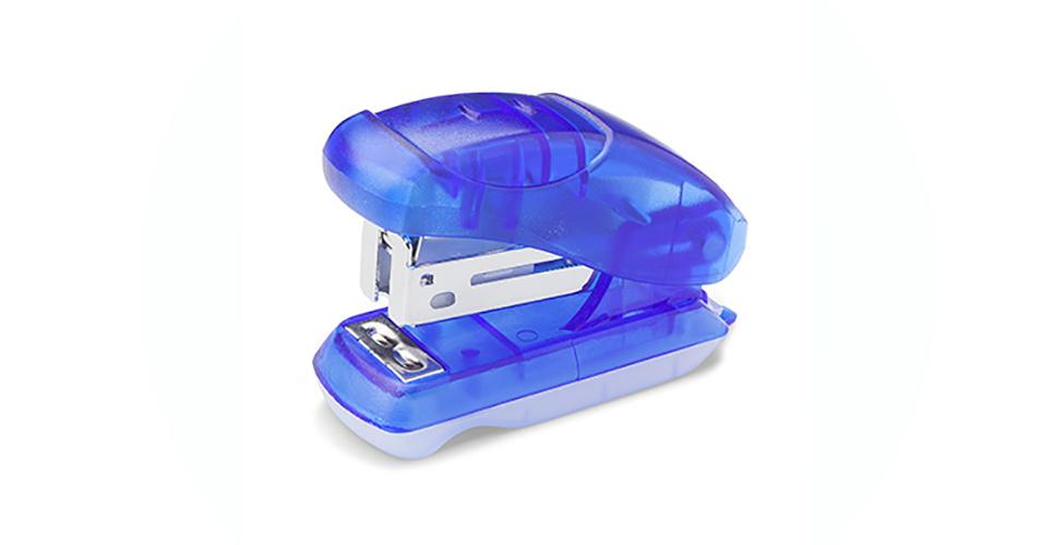 Mini Grampeador Plástico Cores 10 Folhas GP 0101 BRW