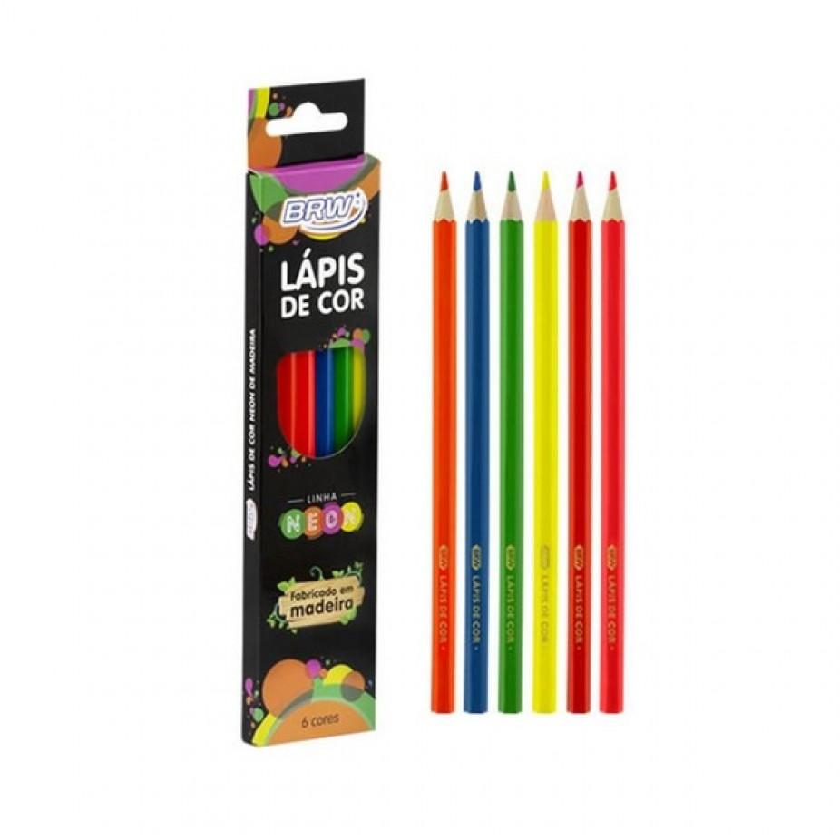 Lápis de Cor Neon BRW