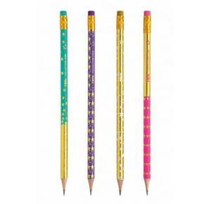 Lápis de Escrever Hb com Borracha Star Tris