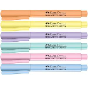 Marca Texto Grifpen Tons Pastel Faber