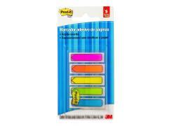Marcador de Página Adesivo Post-it Flags 5 Cores Neon 11,9mm x 43,2mm - 100 folhas(5 x 20 Fls de cada) 3M
