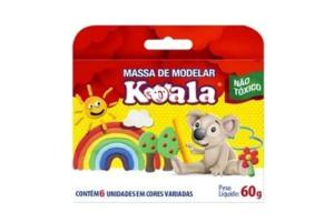 Massa De Modelar 06 Cores 60Gr Koala