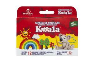 Massa De Modelar 12 Cores 120Gr Koala