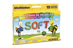 Massa De Modelar 12 Cores Soft 180Gr Acrilex