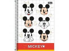 Caderno Universitário Mickey Mouse 80 Folhas Tilibra