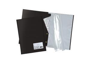 Pasta Catálogo Preta com Visor 20 Plásticos DAC