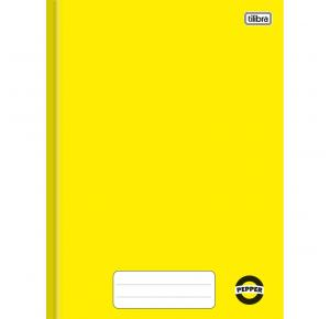 Caderno Brochura Capa Dura 1/4 Pepper Amarelo 40 Folhas Tilibra