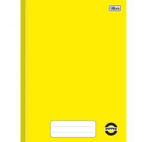 Caderno Brochura Capa Dura 1/4 Pepper Amarelo 80 Folhas Tilibra