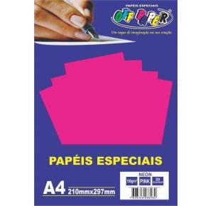 Papel Especial Colorido com Efeito Neon A4 Off Paper