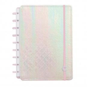 Caderno Inteligente Grande Holográfico Rosa