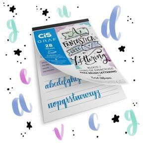 Bloco Livro de Exercícios para Lettering com 28 Folhas 180g CIS