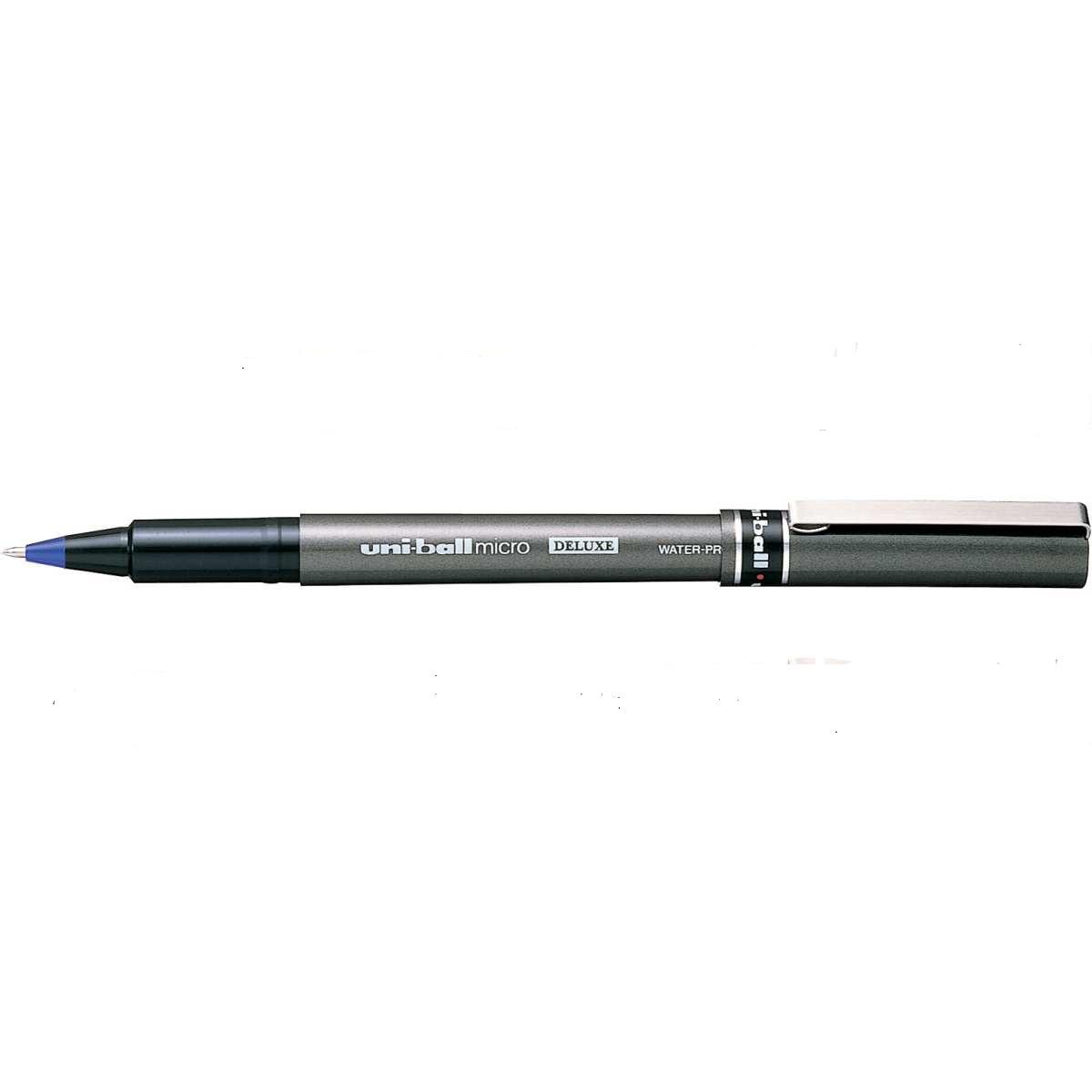 Caneta Hidrográfica Deluxe UB 155 Micro Azul Uni-ball