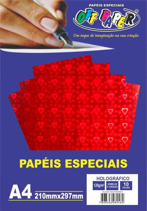 Papel Especial Holográfico Decorado 120g  A4 Off Paper